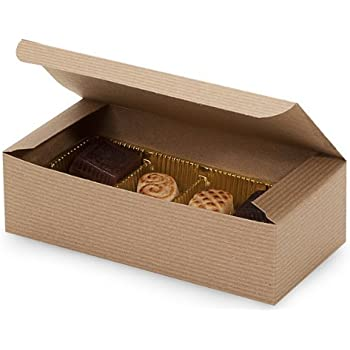 Set of 25 - 1 Pound Kraft Tan Candy Wedding Party Favor Boxes 7 Inch x 3-3/8 Inch x 2 Inch