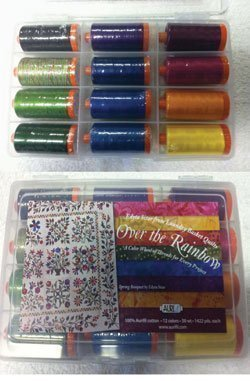 Laundry Basket Quilts Over the Rainbow Aurifil Thread Kit 12 Large Spools 50 Weight ORES1250L by Aurifil