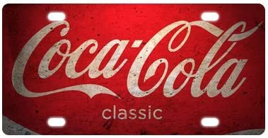 Amazon.com: Custom Coca-Cola metal License Plate para coche ...