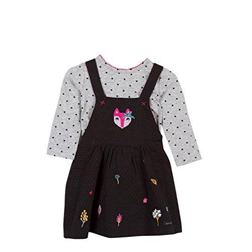 Pour Catimini 29 Charcoal Baby Shirt Robe Mädchen Kleid Grey T Grau OOpgr