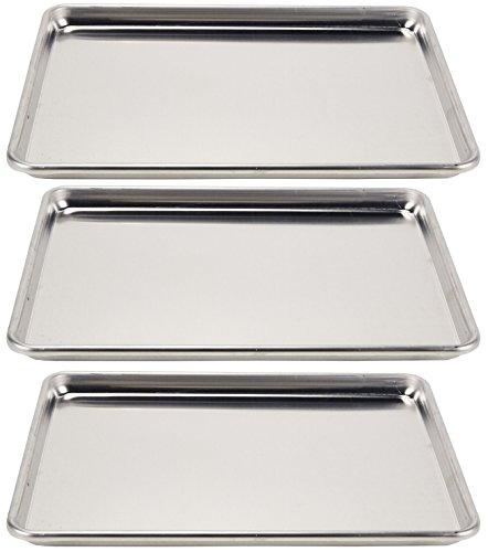 Vollrath 3-Piece Wear-Ever Half-Size Sheet Pans Set, 18-Inch x 13-Inch, Aluminum by Vollrath
