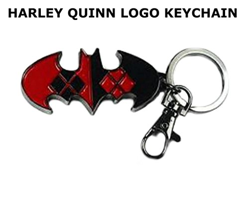 DC Comics Harley Quinn Logo (Batman & Joker) Auto/Home/Boat Keychain w/Gift Box By Athena