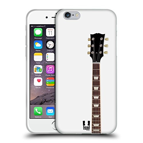 Head Case Designs White Electric Guitar Soft Gel Case for iPhone 6 / iPhone 6s