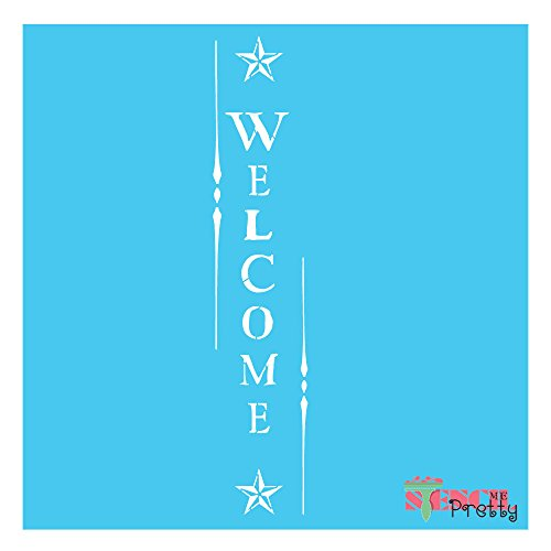 Primitive Craft Signs (Primitive Country WELCOME stencil sign- U paint it- reusable decor crafts (2X Large- 30