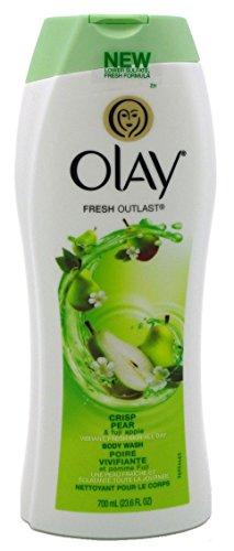 OLAY Fresh Outlast Body Wash, Crisp Pear & Fuji Apple 23.6 oz (Pack of (Pear Crisp)