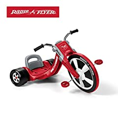"Take a ride on the deluxe big Flyers;, the performance trike. This award-winning trike is designed to be your child's favorite new ride! The deluxe big Flyers; is a chopper-style tricycle with sleek racing design. It features a large 16"" fron..."