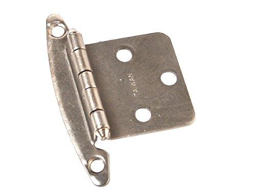 RV Designer H240, Free Swinging Hinge, Nickel, 2 Per Pack, Cabinet Hardware
