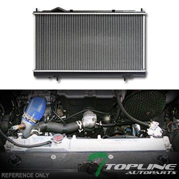 Topline Autopart Aluminum Core Replacement Radiator Cooler For AT Automatic MT Manual Transmission For 95-98/99 Chrysler Sebring/Dodge Avenger/Eagle Talon/Mitsubishi Eclipse 2.0L L4 DPI 2023 Chrysler Sebring Koyo Radiator