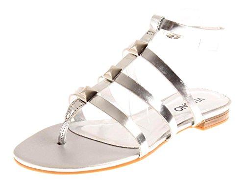 ROMAINS VIA Argent Argent FEMME VERNI CUIR zehensteg CHAUSSURES Doré sandale SANDALES UNO 8wvr7f8qa