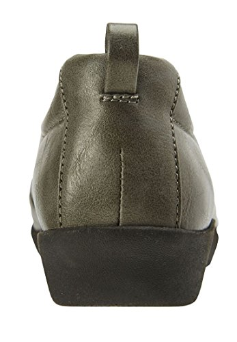 Comfortview Womens Plus Size Casey Flats Grey