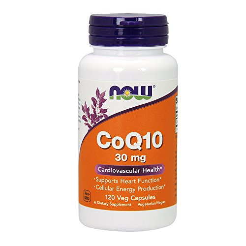 Coq10 30 Capsules (NOW  CoQ10 30mg, 120 Veg Capsules)