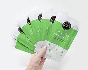 Moisturizing Facial Sheet Masks (6/box) for Youthful-Looking, Supple Skin