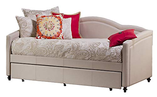 """Hillsdale 1119DBT Jasmine Daybed with Trundle, 39.75"""" H x 83.5"""" W x 42.5"""" D, Linen Stone"""