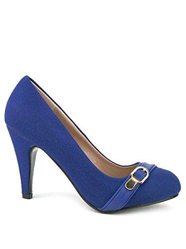 Cendriyon Pumps Satin Blau Royal Belinda Schuhe Damen, Blau