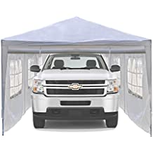 ALEKO Portable Car Storage Carport Garage Canopy Shelter, 20 x 10 Feet White