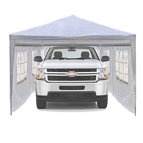 ALEKO Portable Car Storage Carport Garage Canopy Shelter, 30 x 10 Feet White