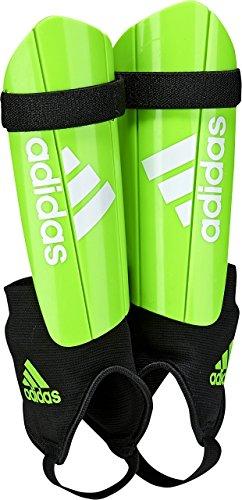 adidas Performance Ghost Youth Shin Guards, Solar Green/Black, - Shin Soccer Guard
