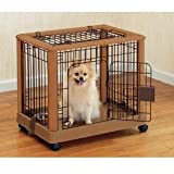 Hardwood Mobile Pet Crate Size: Small