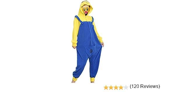 Disfraz de Minion, forro polar, unisex, mono, pijama, disfraz con ...