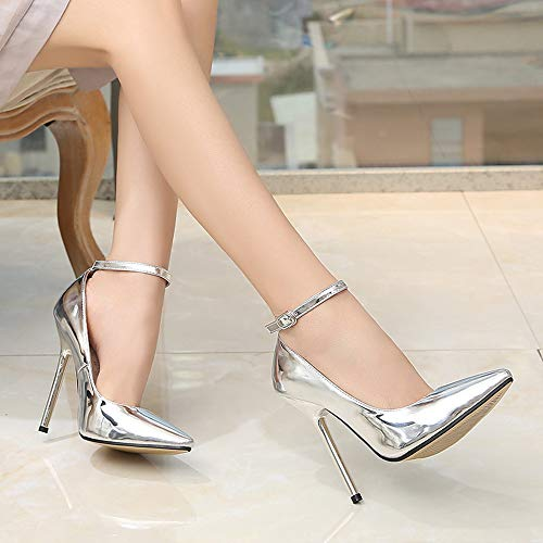 Pointed Jqdyl Stiletto Heel Female Size Super Big High Heel High Shoes Hosted Model Single EqZaSqxp