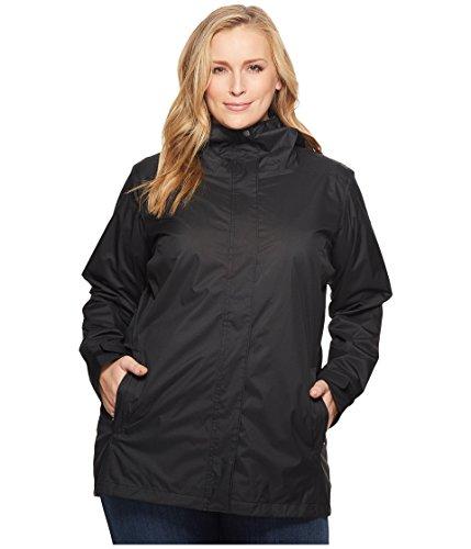 (Columbia Women's Splash A Little Ii Waterproof Rain Jacket, Black, 2X)