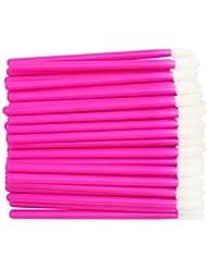 300 Pack Lip Gloss Applicators Disposable Lipstick Wands Bulk Lip Brush Makeup Tool, Rose