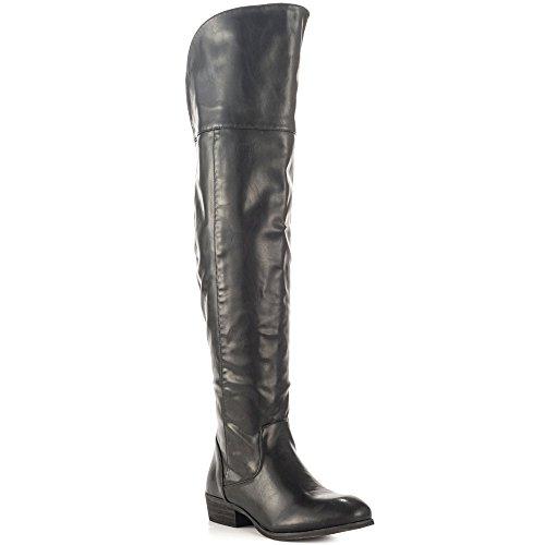 Report Women Gemi Black Dress Boots 8.5 M - Side Repair Upper Jewelry West