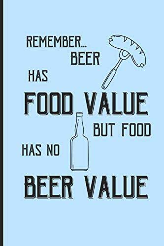 Remember... beer has food value but food has no beer value: Small Funny Lined Notebook / Journal for Beer Lovers