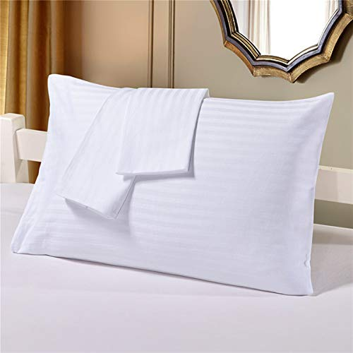 Niagara Sleep Solution 2Pack Pillow Protectors Standard 20x26 Inches ❤ Life Time Replacement ❤ 100% Cotton Sateen High Thread Count 400 Style Standard Zippered White Hotel Quality Covers Cases