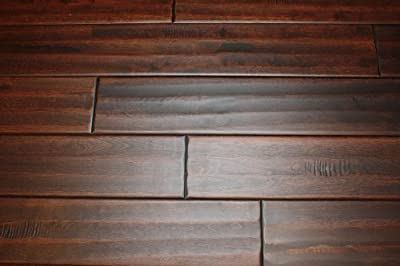 "Elk Mountain Maple Blackwater 3/4"" x 4-3/4"" Hand Scraped SOLID Hardwood Flooring NH205 SAMPLE"