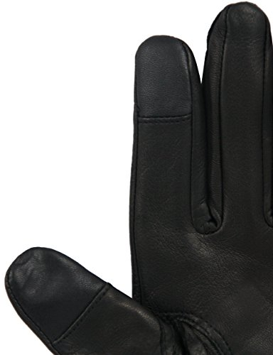 EEM touchscreen gloves for women LEA manufactured from genuine leather, black L