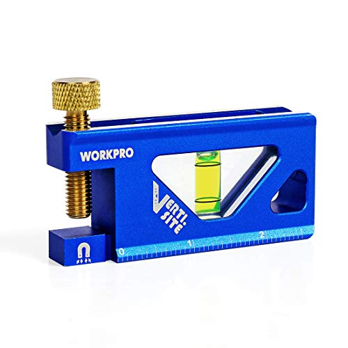 WORKPRO Conduit Bending Level, Magnetic, Verti. Site with V-Groove, Aluminum Alloy Construction, 2.5-inch