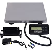 440LBS Digital Platform Weighing Scale Floor Bench Perfect For Postal Office Kitchen Vet Pet Weighing 3 Weight Unit Conversion KG/LB/OZ Heavy Duty Stainless Steel Waterproof