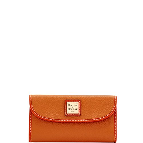 Wallet Clutch Continental (Dooney & Bourke Pebble Continental Clutch  Caramel)