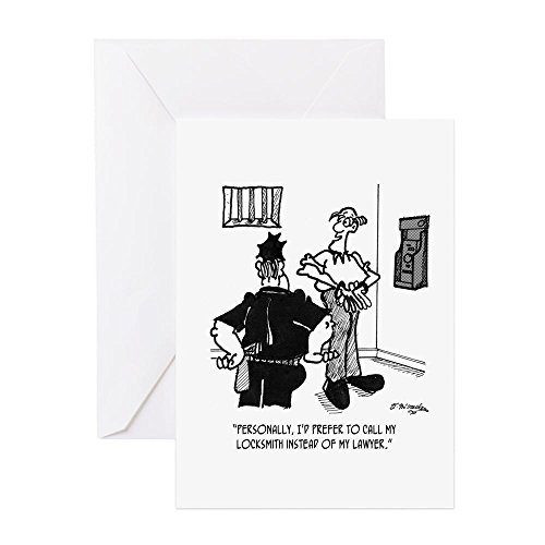 Attorney Greeting Cards - CafePress - Call A Locksmith, Not A Lawyer - Greeting Card, Note Card, Birthday Card, Blank Inside Matte