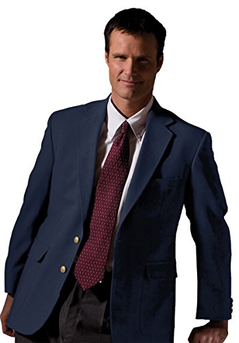Edwards Men's Fully Lined Hopsack Single Breasted Blazer, Navy, 54 L (Navy Hopsack Blazer)
