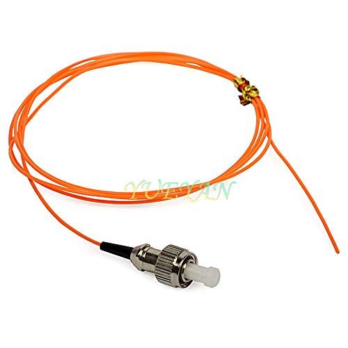 FidgetFidget Fiber Optic Pigtail Fusion Splice FC Multimode Simplex 1M (62.5/125) 0.9mm 2pcs