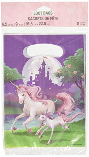 Creative Converting Unicorn Fantasy Favor Bags, 8 ct