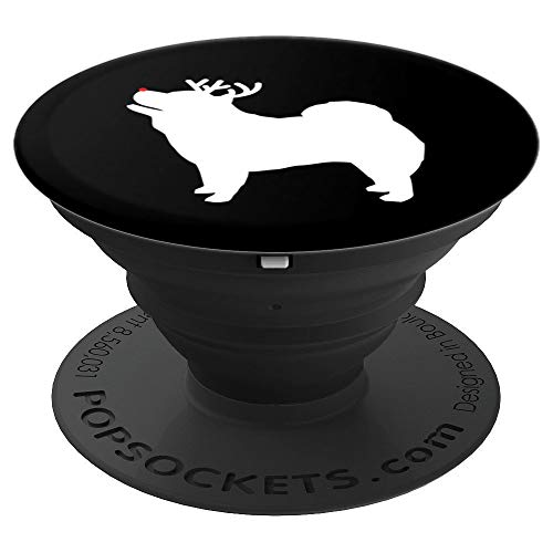Chow Chow Reindeer Christmas Dog Silhouette - PopSockets Grip and Stand for Phones and -
