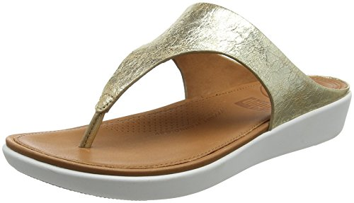 Fitflop Banda II Toe-Thong Sandals-Metallic, Sandali Punta Aperta Donna Gold (Metallic Gold 537)