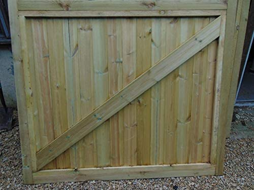 274cm, 9ft W = 2 gates @ 137cm W Smileswoodcraft Wooden Dome Slatted Driveway Gates 5ft H