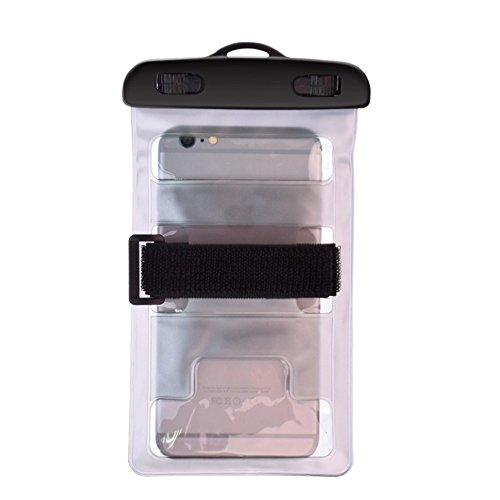 DFV mobile - Schutzhülle Armbinde Strand Universal 30M Wasserdichte Tasche Unterwasserfür=>      BQ AQUARIS E6 > Silbern Silbern