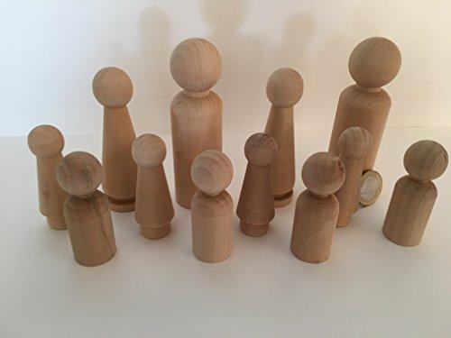 12 Familie Männchen Figuren Holzfiguren Spielfiguren Zum Bemalen