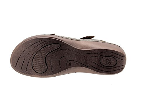 Calzado mujer confort de piel Piesanto 1802 Sandalia Plantilla Extraíble cómodo ancho Taupe