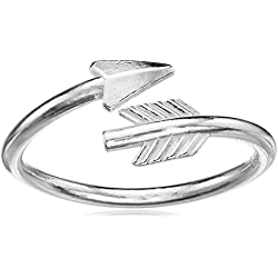"Alex and Ani ""Valentine's Day Collection"" Love struck Arrow Wrap Ring, Size 5-7"