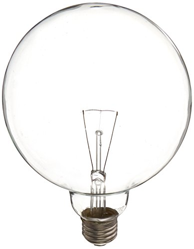 GE Lighting 14187 60-Watt Crystal Clear G40 Vanity Globe Light Bulb, 1-Pack 1 Light Clear Crystal