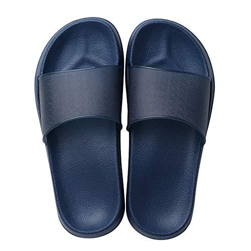 Femmes Uni Pvc Bain Salle Blue Couleur Pantoufles Antidérapantes Lxjld Pour De Polyester YpwqWSZ