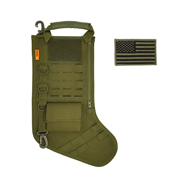Tactical Christmas Stocking Stuffed.Gearrific Tactical Christmas Stocking Pre Filled With Gifts For Him Soldiers Military Or Survivalists 32 Piece Set Green