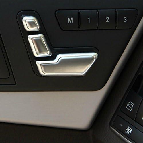 Topteng 6PCS Chrome Sitz Einstellschalter f/ür E Cla-ss W212 218 CLS X166 GL GLK