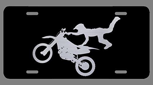 Vincit Veritas Dirt Bike Motocross Supercross Accessories Black Etched License Plate   Premium Quality   12-Inch By 6-Inch   LP015